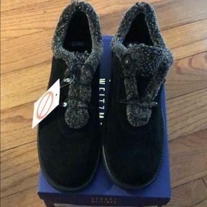 Stuart Weitzman Black Sport Suede Shoes